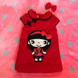 Cute Asian Girls winter dress